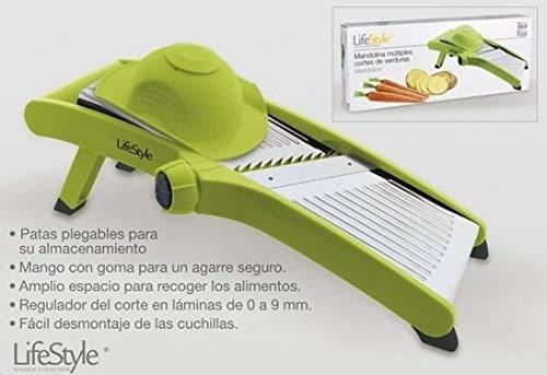 Atosa-Life-Style–Mandoline-de-Cuisine-avec-Pied–ABS-et-Acier-Inoxydable–Multiples-Cortes-0