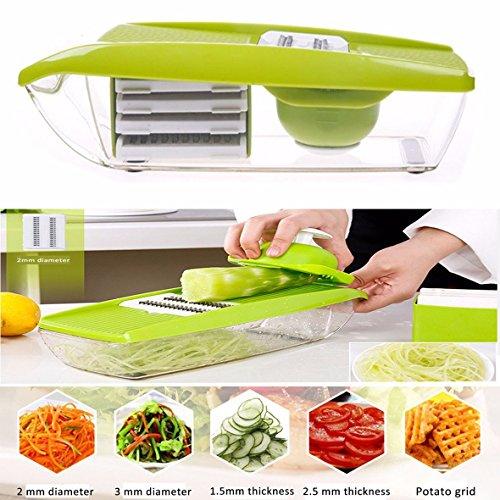 Gearmax-Trancheuse-de-lgumes-et-de-fruits-plucheuse-de-cuisine-Bote–conteneur-Chopper-Pour-trancher-Dcouper-Grinder-Dcouper-Dcouper-et-plucher-Vert-0
