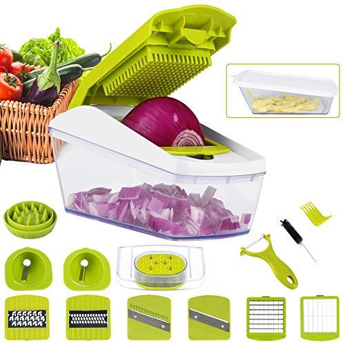 Mandoline-12-en-1-Multifonction-Professionnelle-Couper-Spiraliseur-les-Legumes-Couteau-en-Acier-Inoxydable-Rapide-et-Facile–Nettoyer-Au-Lave-vaisselle-Sans-BPA-0