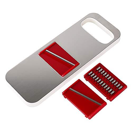 Trancheuse-De-Mandoline-3-En-1-Coupe-Lgumes-Multifonctions-De-Nourriture-Hachoir-Et-Fromage-Cuisine-Rpeuse-Avec-3-Lames-En-Acier-Inoxydable-Pointues-Interchangeables-Poigne-Anti-Drapante-Facile–Saisi-0