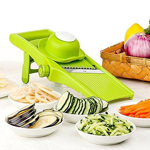LEKOCH-Mandoline-Slicer-Lame-Ajustable-Fine–tranches-paisses-et-Julienne-Coupe-lgumes-rpe-et-trancheuse-pour-lgumes-Pommes-de-Terre-tomates-oignons-FromageVertLger-0
