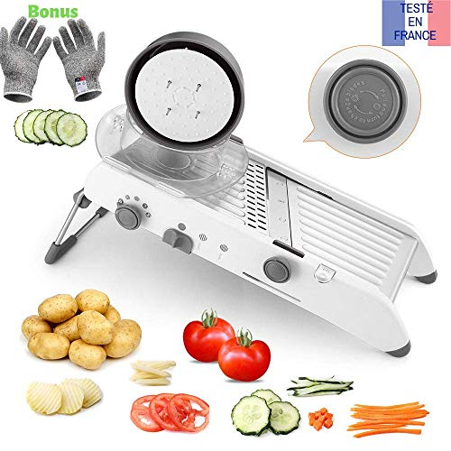 Tasty-health-Mandoline-de-Cuisine-Multifonctions-Coupe-lgumes-de-qualit-Professionnel-Robuste-Peu-encombrant-et-Facile–Utiliser-pour-la-dcoupes-de-Vos-lgumes-0