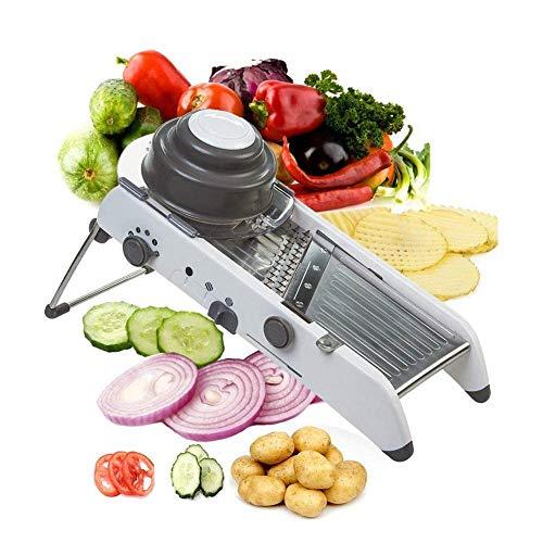 ADOV-Mandoline-Multifonctions-Cuisine-Acier-INOX-Professionnelle-Trancheuse-18-Types-de-Rglable-PL8-Saucisson-sans-BPA-Gaufrier-Juliennes-Couper-Les-Lgumes-Citron-Fruit-avec-Lames-intgrs-0