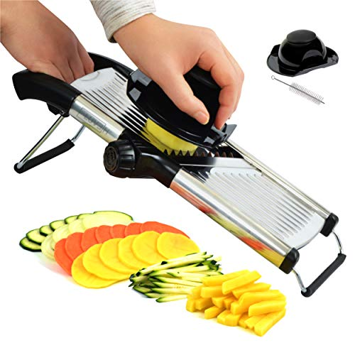 LUVEH-Best-Coupe-lgumes-Pour-Cuisine-Professionnelle-En-Acier-Inoxydable-Mandolina-Slicer-Cut-Slice-Lgumes-Rglable-Multifonctions-Brosse-De-Nettoyage-Acier-Inoxydable-0