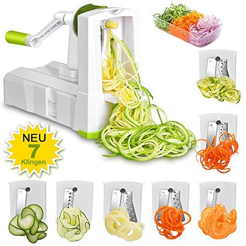 Spiralizer-7-Lames-Coupe-lgume-Multifonction-Professionnelle-Trancheuse–Spirale-Spiraliseur–Fruit-Mandoline-de-Cuisine-pour-Julienne-Spaghetties-0